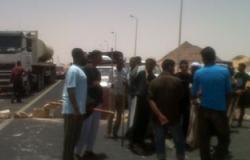 أهالى قرية دروه بالمنوفية يقطعون طريق أشمون- القاهرة لإسقاط النظام