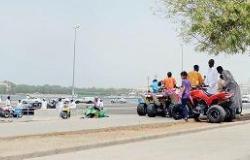 الدراجات النارية تحرم الأهالي من الاستمتاع بالكورنيش