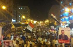 مسيرة لأنصار الإخوان تجوب شوارع مدينة ببنى سويف