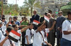 """بالصور.. محافظ بورسعيد فى مسيرة الشباب والرياضة احتفالاً بـ""""6 أكتوبر"""""""