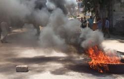 أهالى كفر الدوار يقطعون القاهرة-الإسكندرية احتجاجًا على حوادث السير