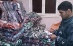 """جمعية """"شباب الخير"""" توزع 100 بطانية على الأسر المحتاجة بالفيوم"""