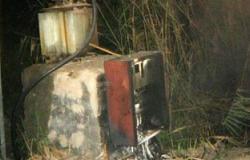 """مجهولون يشعلون النيران فى محول كهرباء بقرية بـ""""أبو حماد"""" فى الشرقية"""