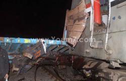 إصابة 3 أشخاص فى تصادم قطار الشرقية بميكروباص بمزلقان أنشاص الرمل