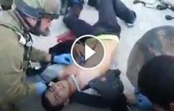 بالفيديو.. لحظة قتل جنود الاحتلال لشاب الفلسطينى