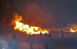 20 سيارة إطفاء تصل موقع حريق مصنع إسفنج مدينة بدر للسيطرة عليه