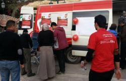 شباب الشرقية يشاركون فى حملات التبرع بالدم لصالح مصابى الجيش