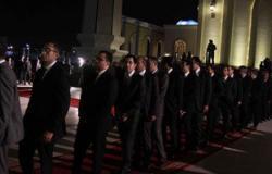 توافد الشخصيات العامة على العزاء الشعبى للنائب العام فى مسجد عمر مكرم