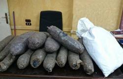ضبط أربعة عاطلين بحوزتهم بانجو وأقراص مخدرة فى بنى سويف