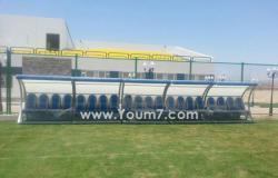 بالصور..محافظ جنوب سيناء يتفقد ملعب القرية الشبابية