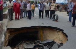رئيس مدينة الواسطى: الهبوط الأرضى سببه عدم وضع سنادات على جانبى حفر الصرف