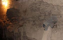 انهيار جدار منزل فى قرية بالسنطة بالغربية بسبب تسرب مياه الصرف دون إصابات