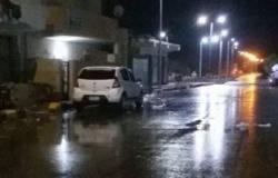سقوط أمطار عزيرة بشوارع مدينة القصير