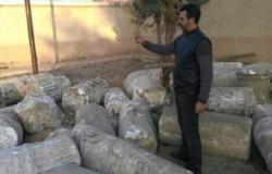 بالصور.. العثور على 35 قطعة أثرية داخل محطة مياه بالغربية
